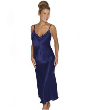 blå lang natkjole blonde