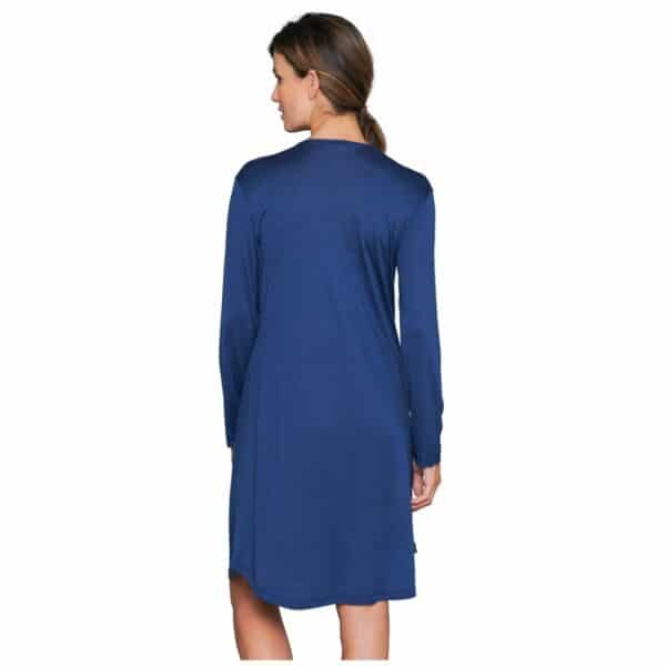 blå silkenatkjole kort ærme fra Lady Avenue