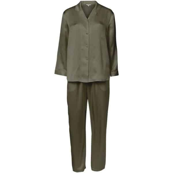 grøn silke pyjamas