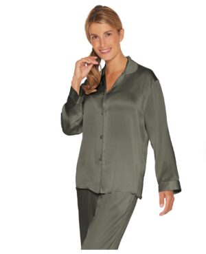 grøn silkepyjamas