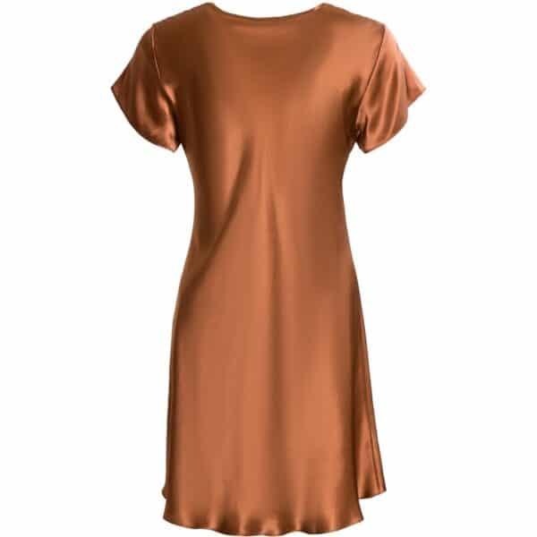 orange natkjole blonde model bagfra