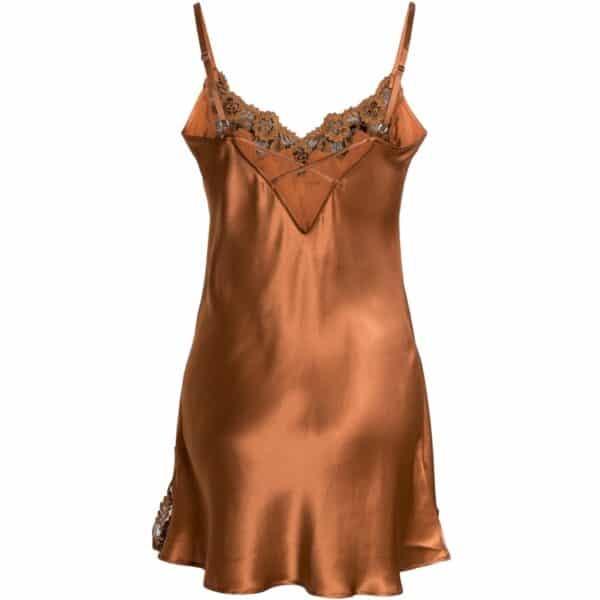 orange silke underkjole blonde