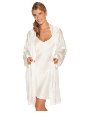 hvid kort kimono
