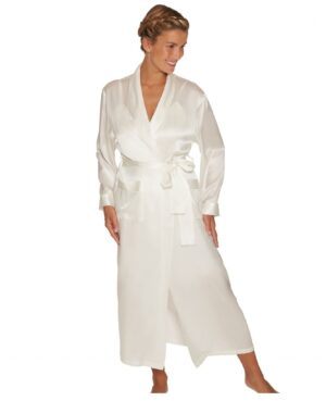 hvid lang kimono