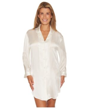 hvid natskjorte