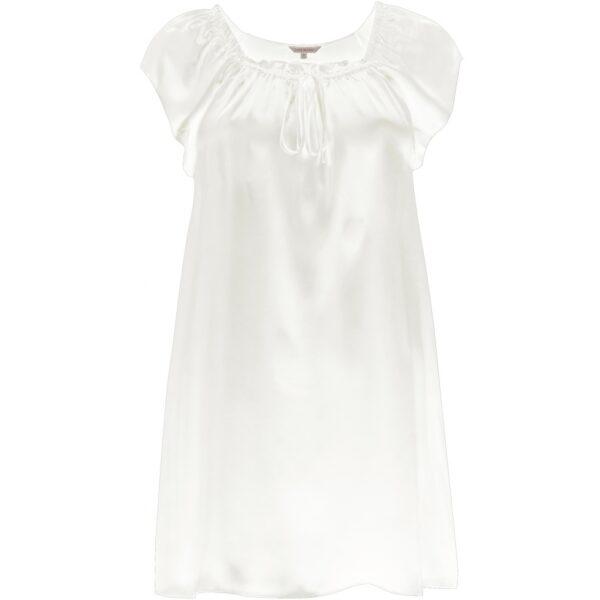 hvid silkenatkjole babydoll