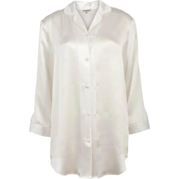 hvid silkenatskjorte