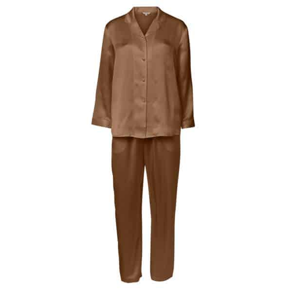 cognac silke pyjamas