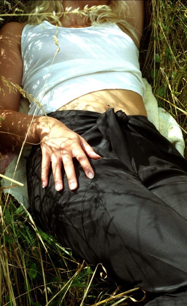 silke bukser sort